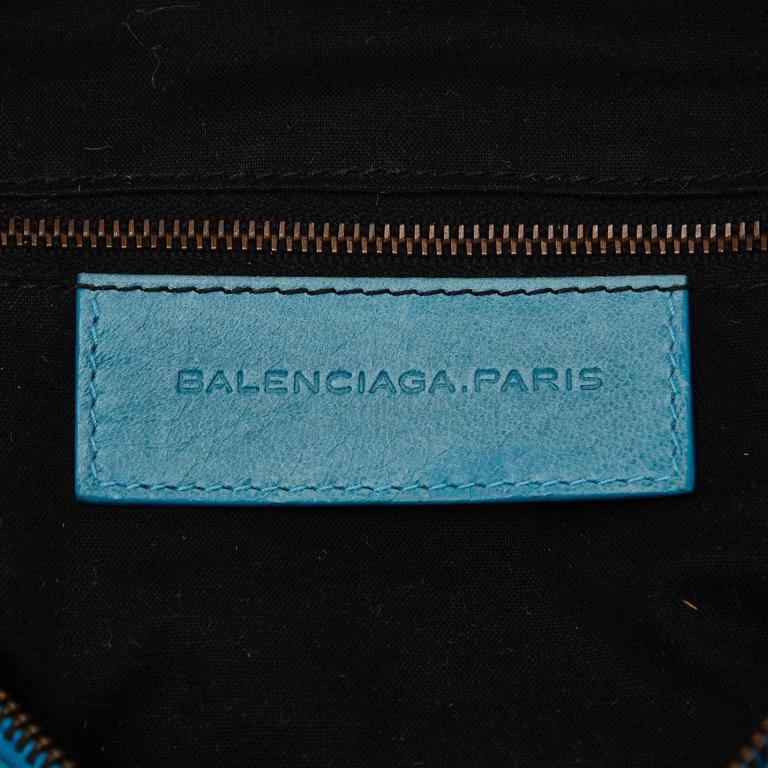 Blue Leather Motocross Twiggy Hand Bag 4