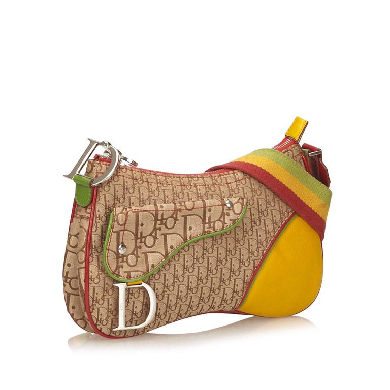 dior multicolored jacquard diorissimo rasta shoulder bag at 1stdibs