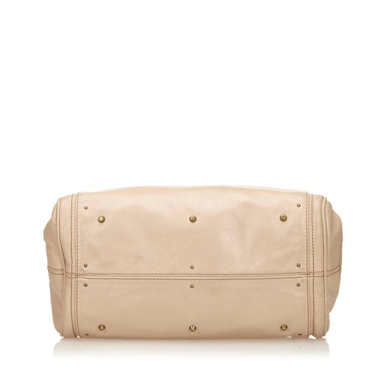 Chloe Beige Leather Paddington Shoulder Bag  In Good Condition For Sale In Orlando, FL