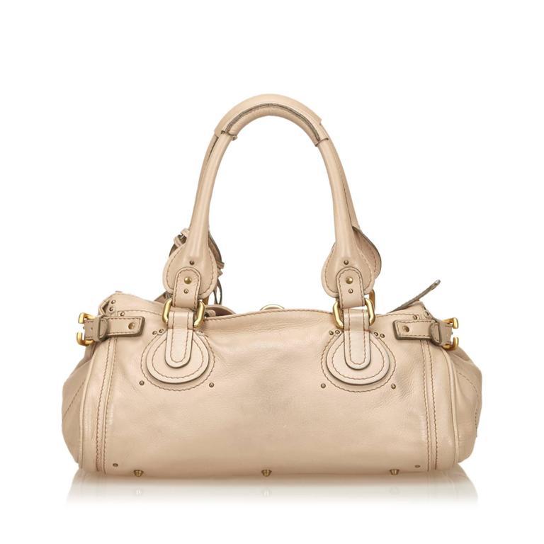Chloe Beige Leather Paddington Shoulder Bag  For Sale 1