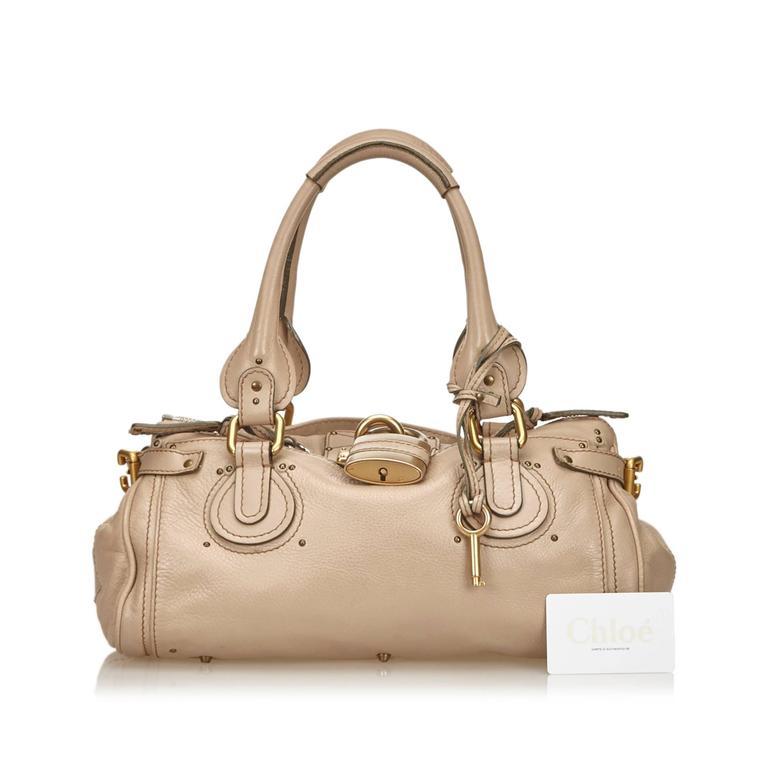 Chloe Beige Leather Paddington Shoulder Bag  For Sale 2