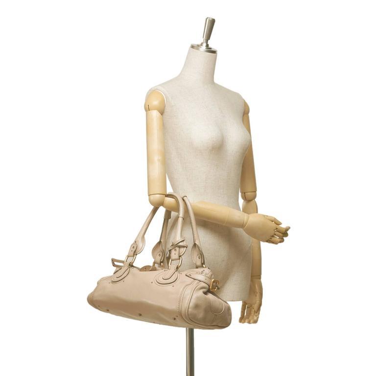 Chloe Beige Leather Paddington Shoulder Bag  For Sale 4