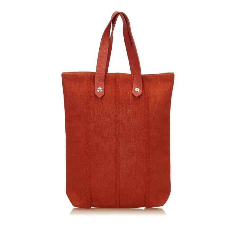 Hermes Red Wool Ahmedabad PM Tote 3