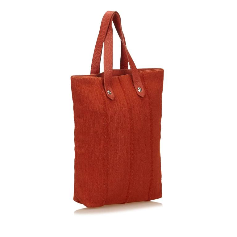 Women's Hermes Red Wool Ahmedabad PM Tote For Sale