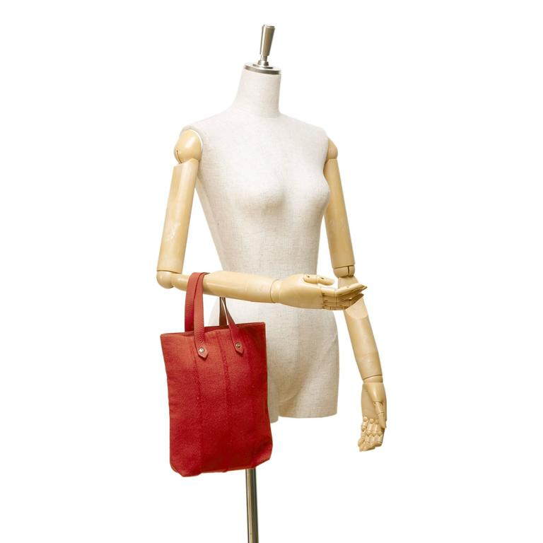 Hermes Red Wool Ahmedabad PM Tote For Sale 1