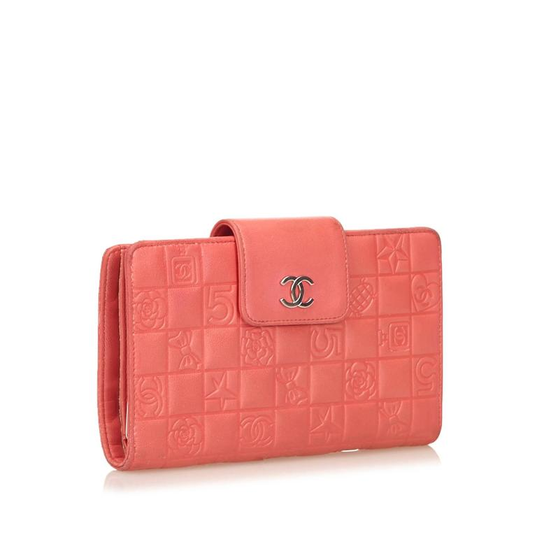 Chanel Pink Icon Wallet For Sale At 1stdibs