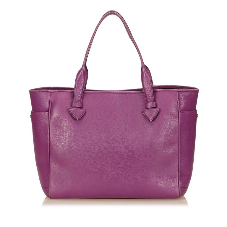 Loewe Purple Leather Tote Bag For Sale at 1stdibs