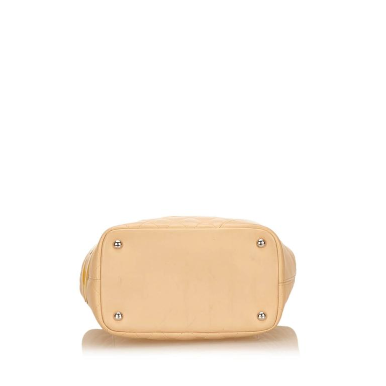 Chanel Yellow Cambon Ligne Bucket In Good Condition For Sale In Orlando, FL