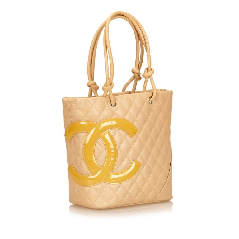 Chanel Yellow Cambon Ligne Bucket For Sale 4