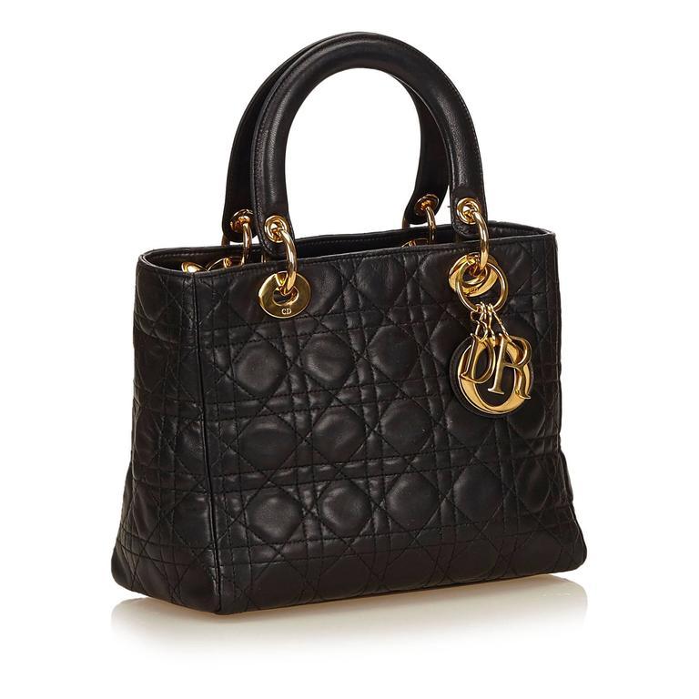 Dior Black Leather Lady Dior 2