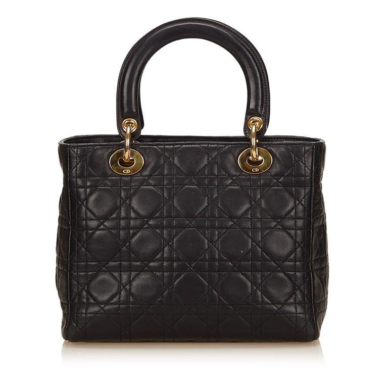 Dior Black Leather Lady Dior 4
