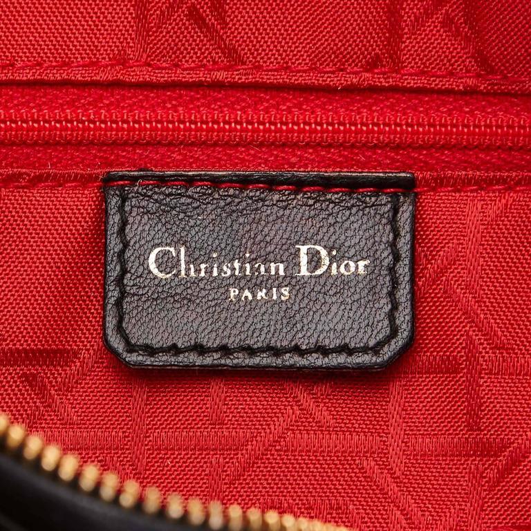 Dior Black Leather Lady Dior 5