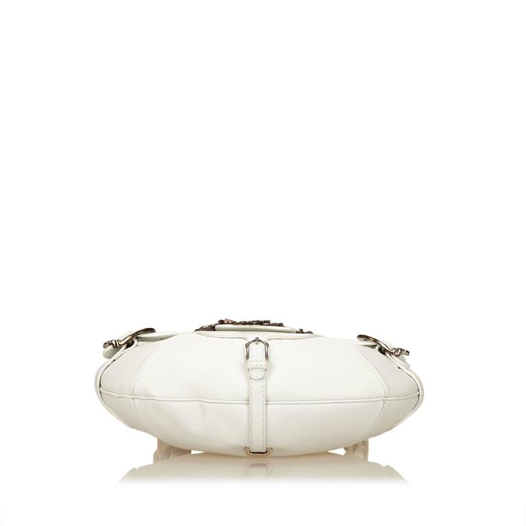 Jimmy Choo White Leather Charm Handbag 2