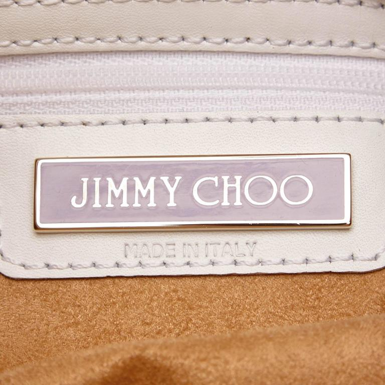 Jimmy Choo White Leather Charm Handbag 4