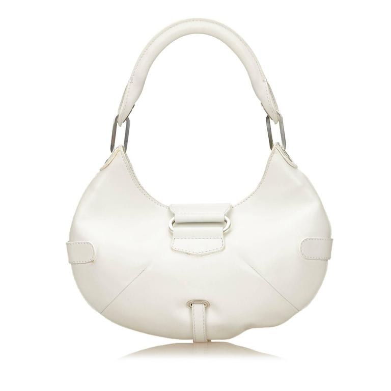 Jimmy Choo White Leather Charm Handbag 3