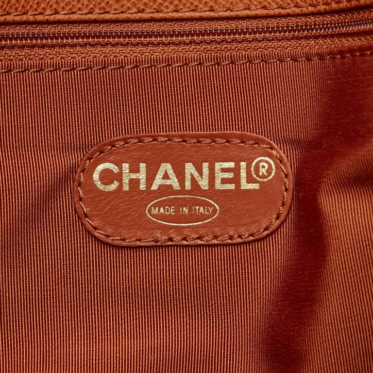 Chanel Brown Leather Shoulder Bag For Sale 2