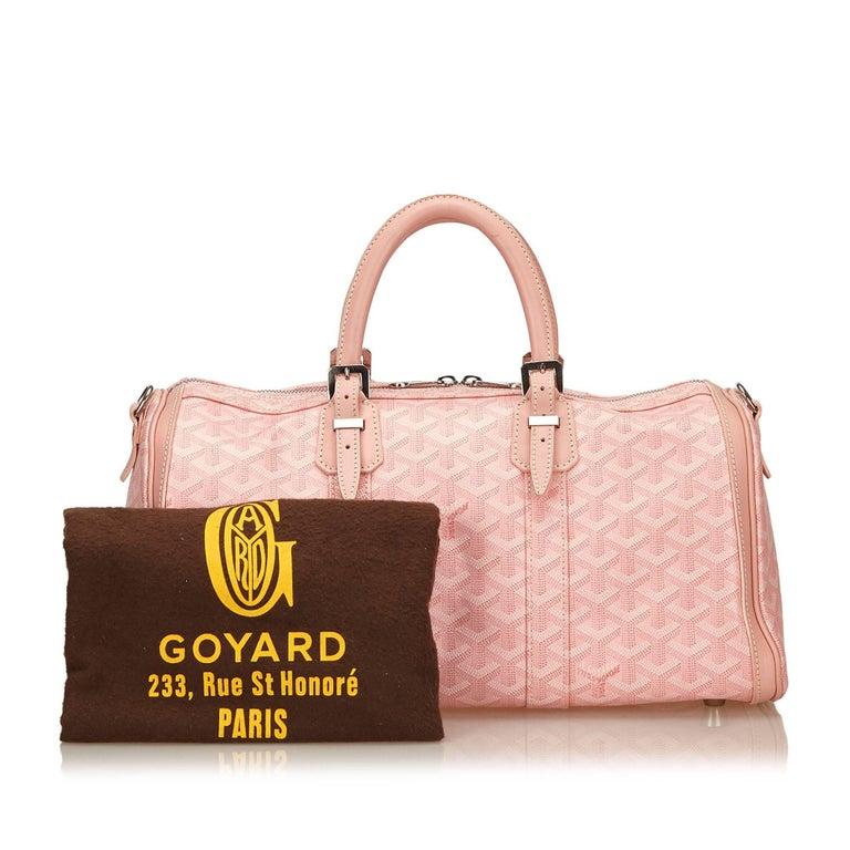 Goyard Pink Goyardine Croisiere 35 For Sale at 1stdibs e601638f7a