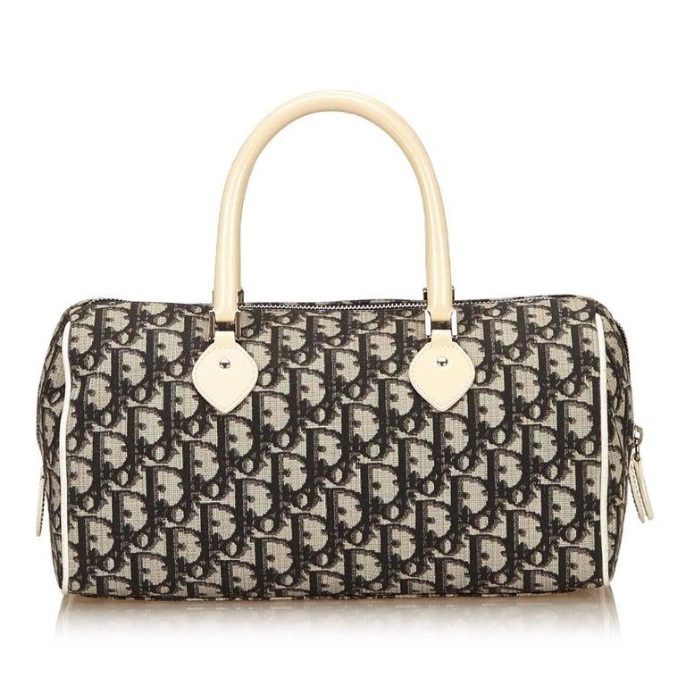 Dior Black Diorissimo Pvc Handbag For Sale At 1stdibs