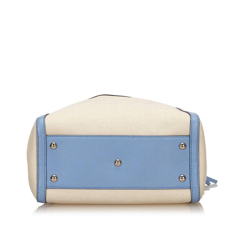 Gucci White Soho Canvas Handbag 4