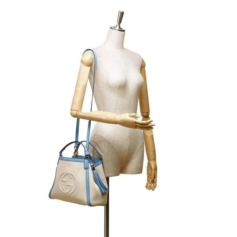Gucci White Soho Canvas Handbag 8