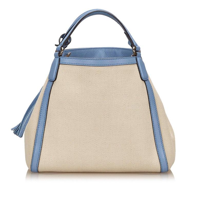 Gucci White Soho Canvas Handbag 3