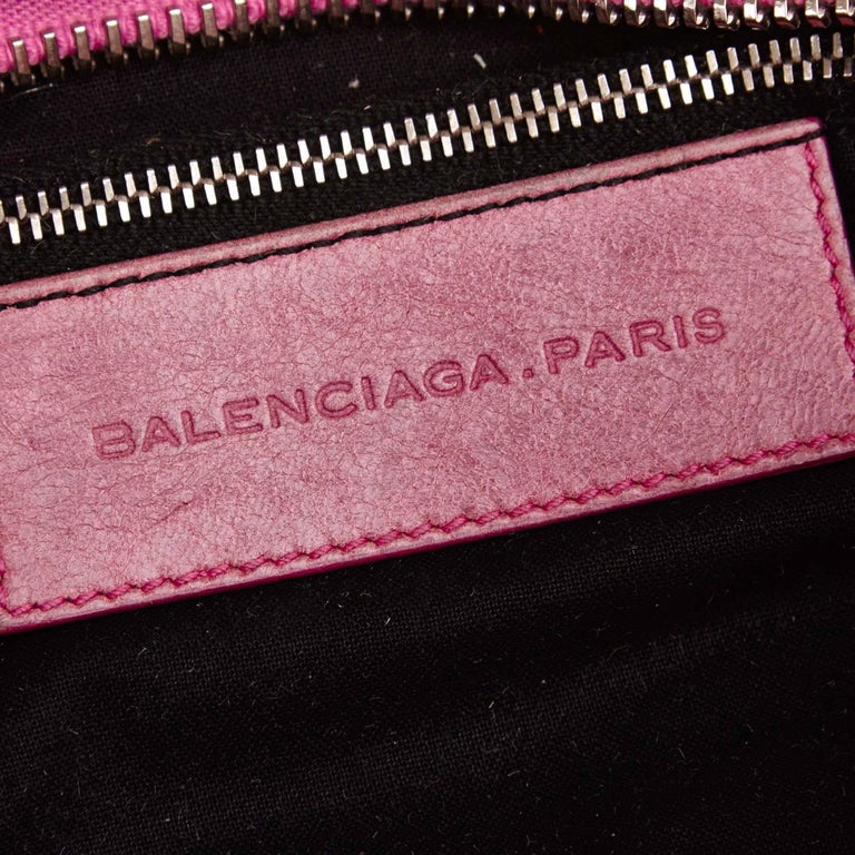 Balenciaga Purple Motocross Giant City Floral Bag For Sale 2