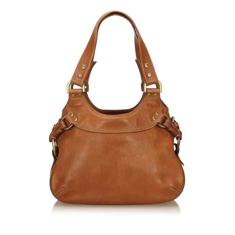 Mulberry Brown Leather Shoulder Bag In Good Condition For Sale In Orlando,  FL 2c4f8c7c4a