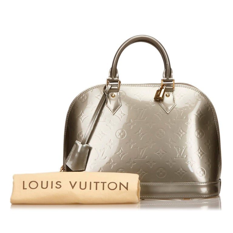 Louis vuitton silver vernis alma pm for sale at 1stdibs for Louis vuitton silver alma miroir