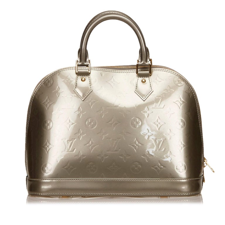 Louis vuitton silver vernis alma pm for sale at 1stdibs for Louis vuitton silver alma miroir
