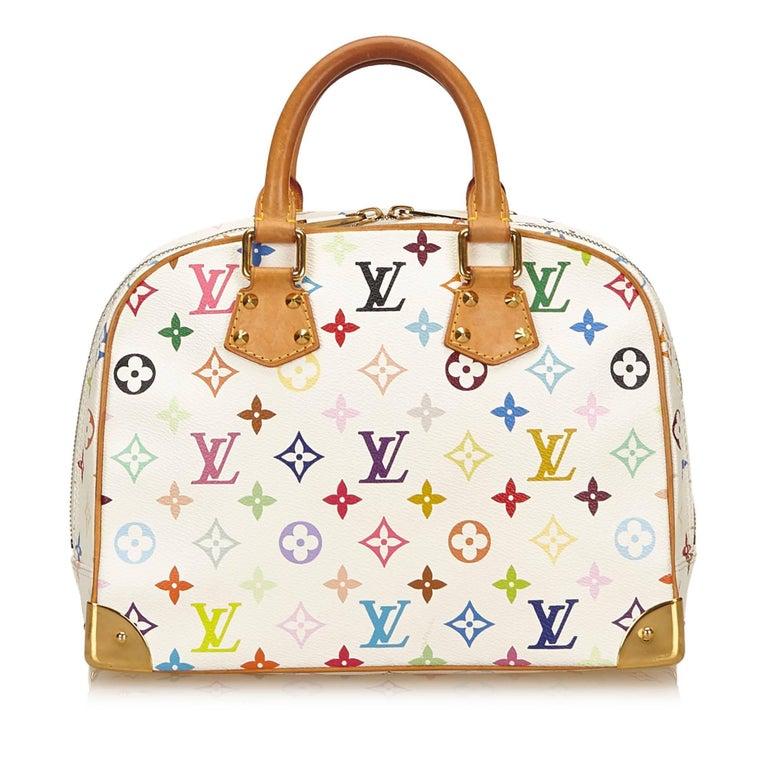 e674b6c5d5216 Weiße Bunte Louis Vuitton Monogram Trouville Tasche im Angebot bei ...