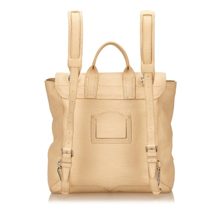 Phillip Lim Brown Leather Pashli Backpack In Good Condition For Sale In Orlando, FL