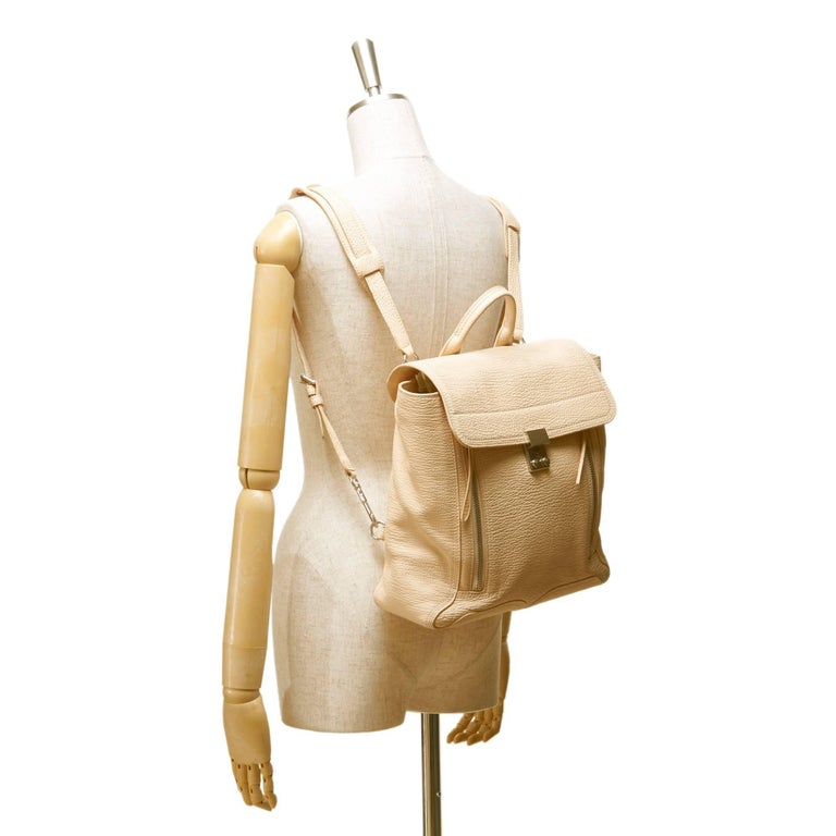 Phillip Lim Brown Leather Pashli Backpack For Sale 3