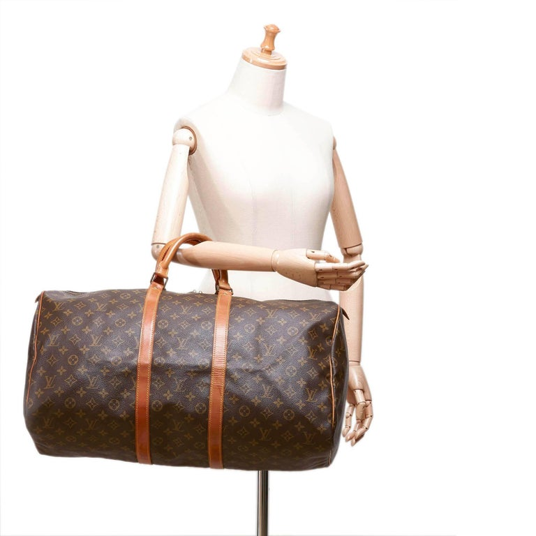 louis vuitton brown monogram keepall 55 for sale at 1stdibs
