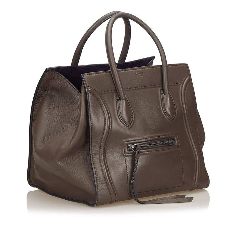 753c3d1385 Celine Dark Brown Small Luggage Phantom Tote For Sale at 1stdibs