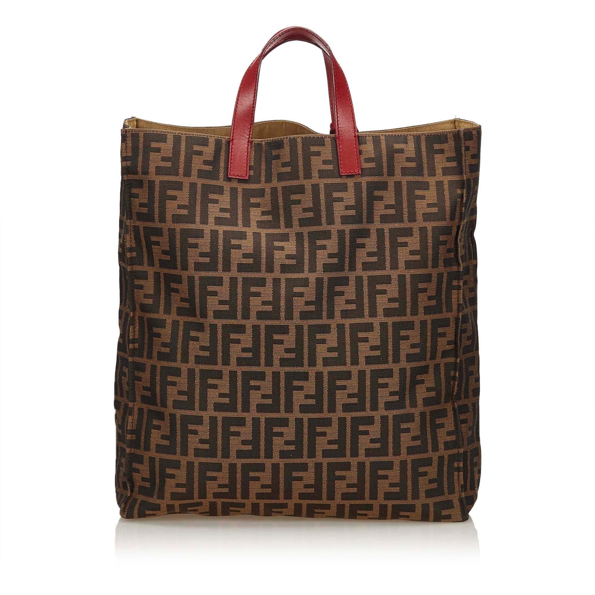 Fendi Brown Zucca Shopper Tote Bag at 1stdibs 7f4343613d6f7