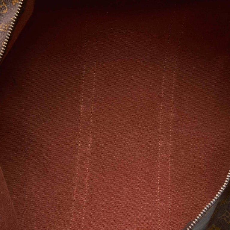 Louis Vuitton Brown Monogram Keepall 55 For Sale 1