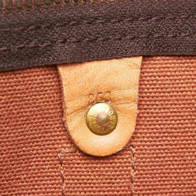 Louis Vuitton Brown Monogram Keepall 55 For Sale 3