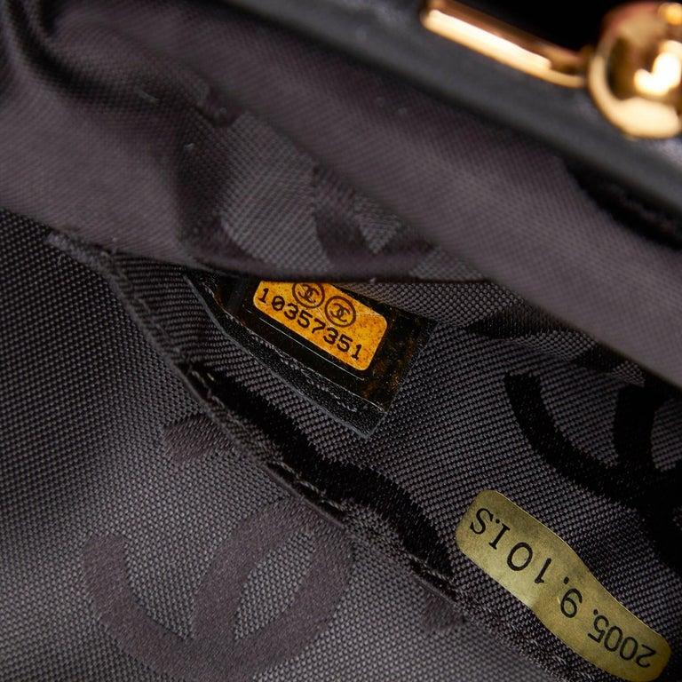 Chanel Black Velour Handbag For Sale 3