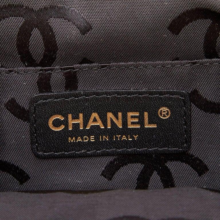 Chanel Black Velour Handbag For Sale 2