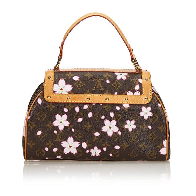 bdb5a50c5cb6 Black Louis Vuitton Brown Monogram Murakami Cherry Blossom Sac Retro Bag  For Sale