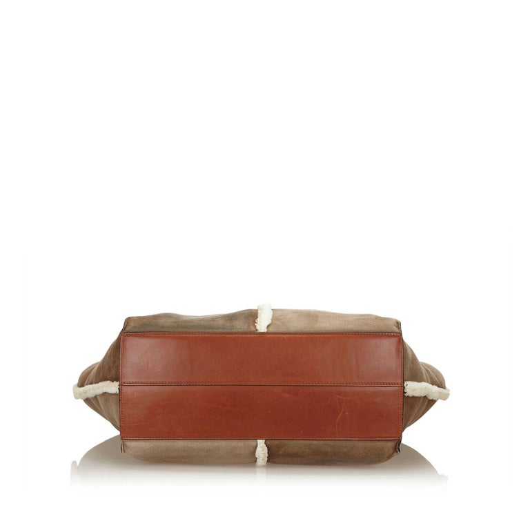 Women s or Men s Chloe Brown x Dark Brown Mouton Keri Tote Bag For Sale c7c9177aded6