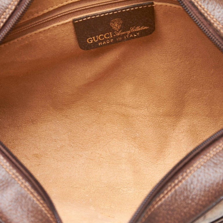 117341d2b8ae Gucci Brown Ophidia GG Supreme Small Crossbody Bag For Sale at 1stdibs