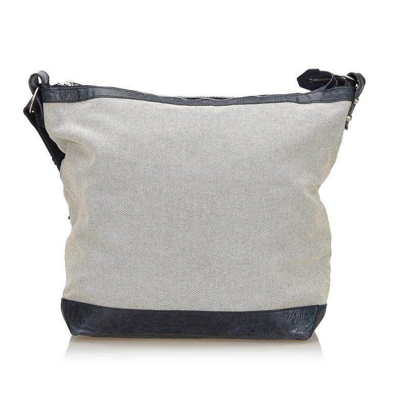 Balenciaga Gray X Black Motocross Day Messenger Bag In Good Condition For Orlando