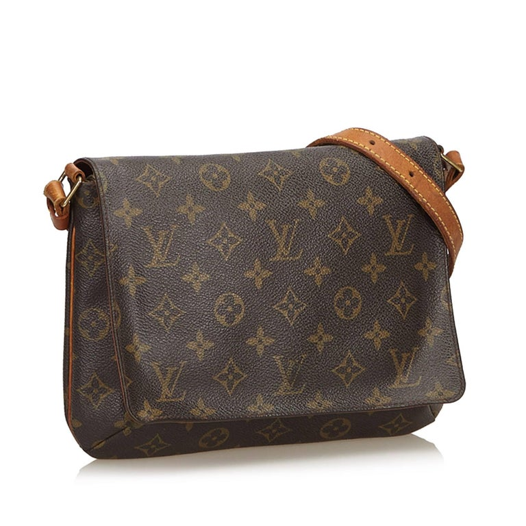 f06f806a4f70 Louis Vuitton Brown x Dark Brown Monogram Musette Tango Short Strap ...
