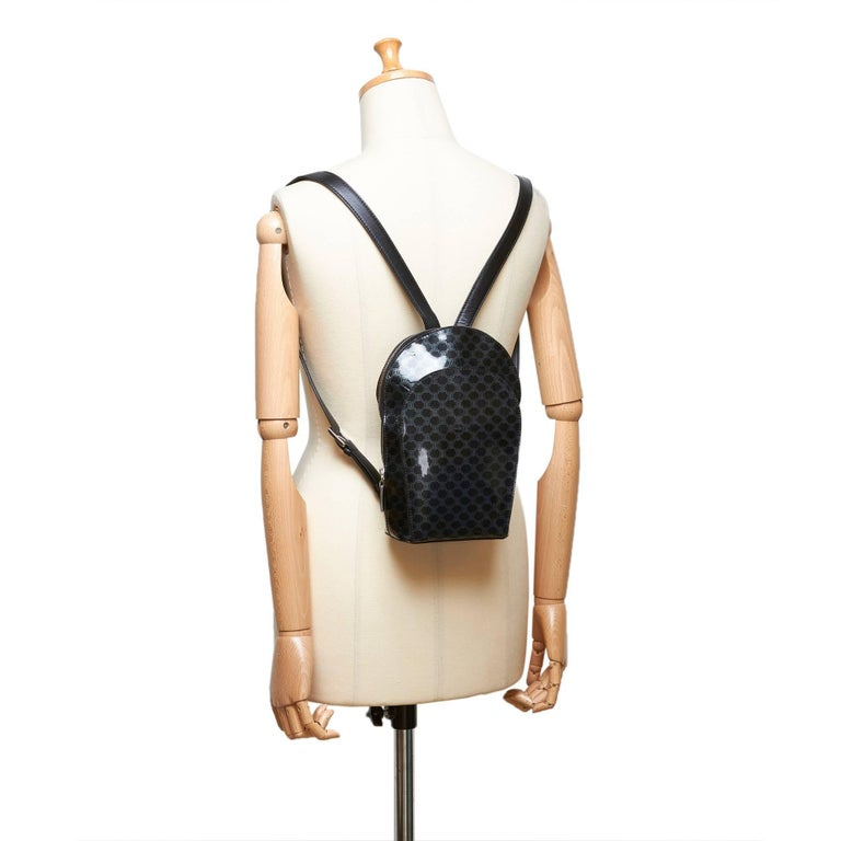 Celine Black Macadam Patent Leather Backpack For Sale 5