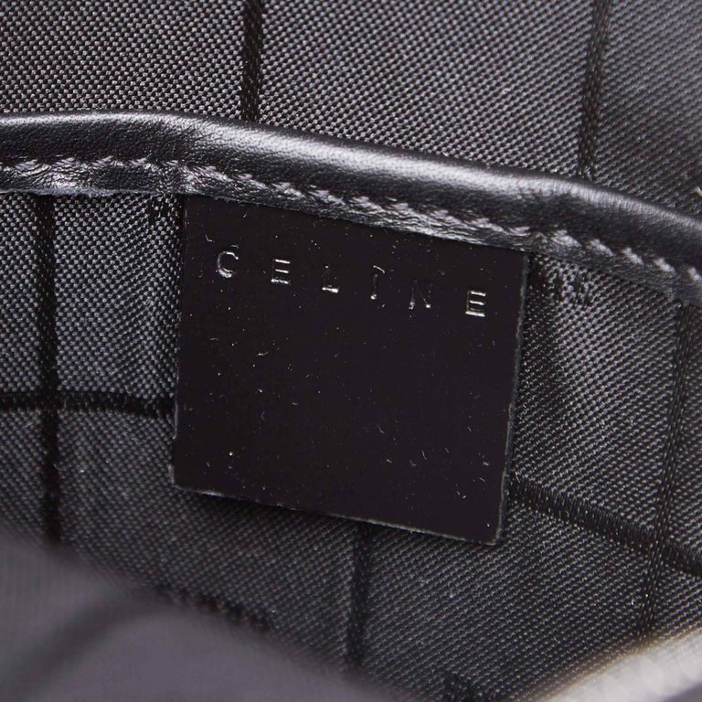 Celine Black Macadam Patent Leather Backpack For Sale 2