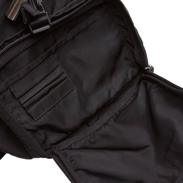 Prada Dark Brown Nylon Drawstring Backpack For Sale 1