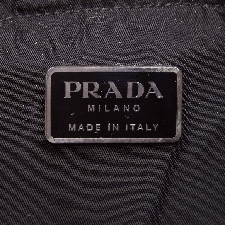Prada Dark Brown Nylon Drawstring Backpack For Sale 2