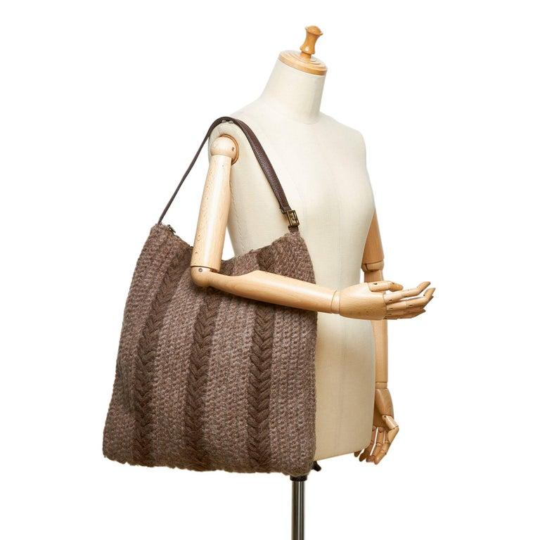 32a0a2f7ae Fendi Gray Wool Hobo Bag at 1stdibs