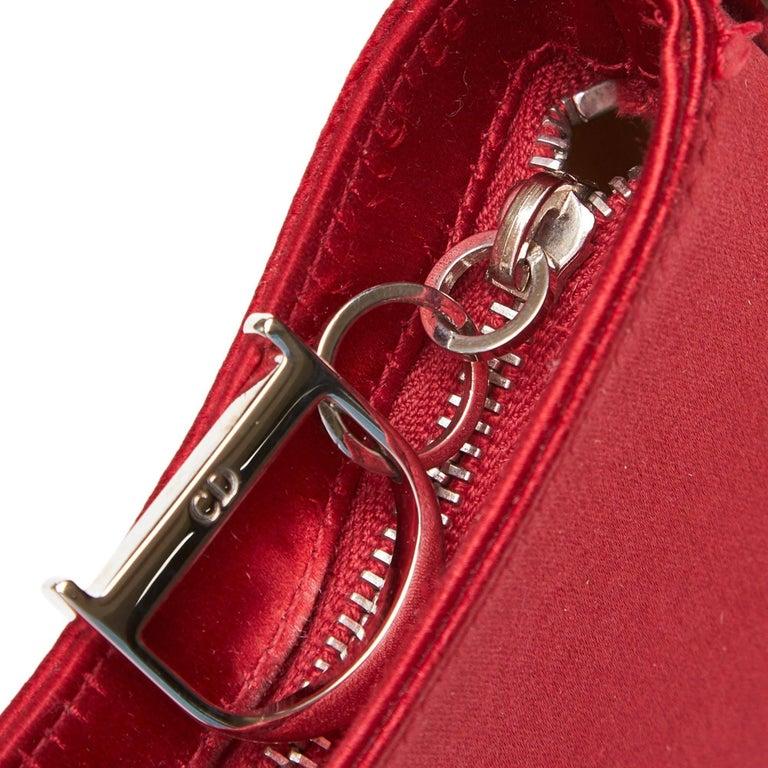 1f831846e0dd5 Dior Red Satin Ballet Handbag For Sale 4